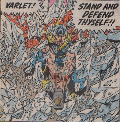 Byrne never really had a run on Thor, but I think this was probably the best art Thor would get for several years.