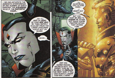 Sinister had a goatee last issue, and now he looks too Tim Curry-like.