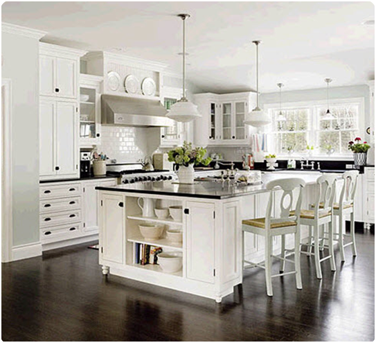 Kitchens With White Cabinets And Black Granite: Little Inspirations: Glamorous White Kitchens