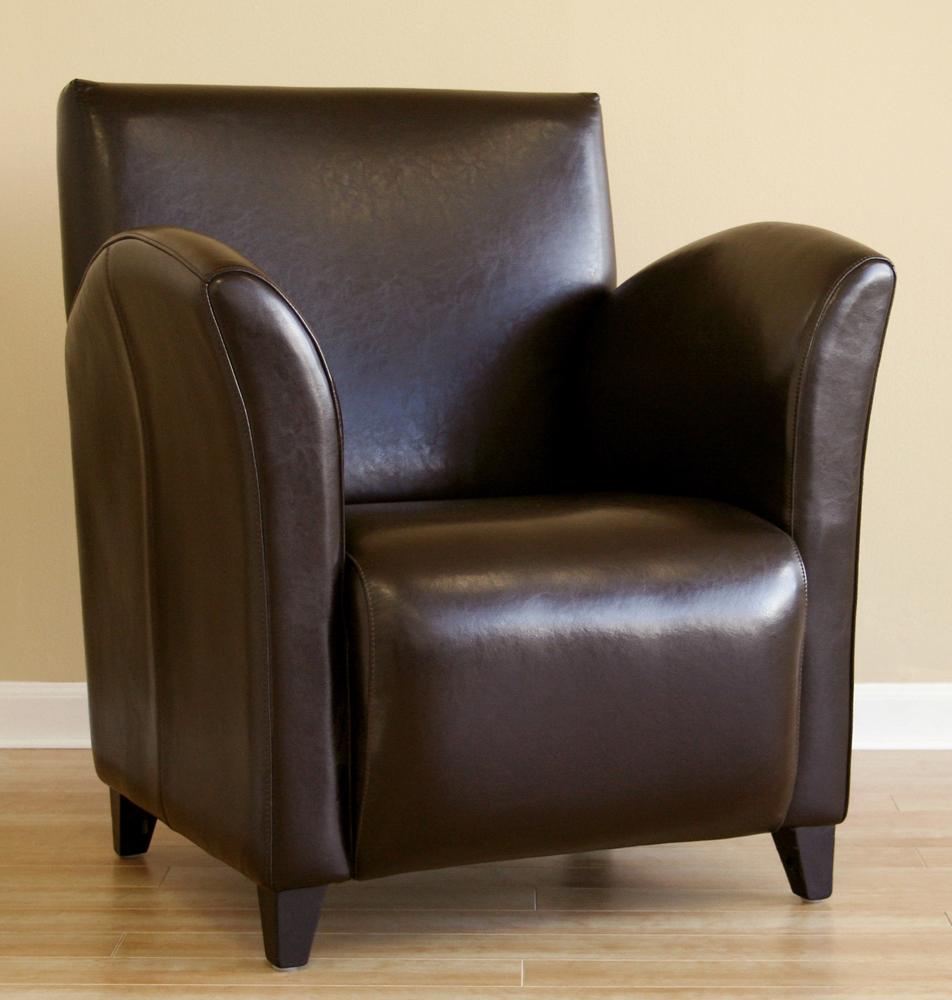 Tristan Dark Brown Leather Club Chair