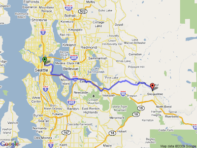 cycling in seattle: Seattle to Snoqualmie Falls And Back