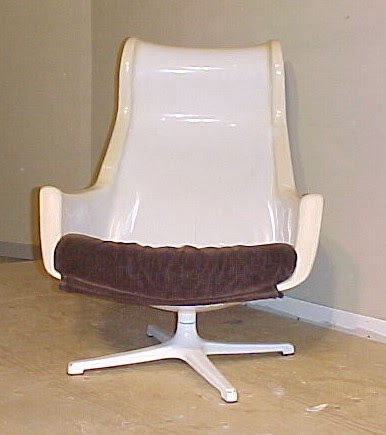 large chair time capsule 1968 alf svensson space age mod swivel 16353 | SvennsonChairFrontNaked