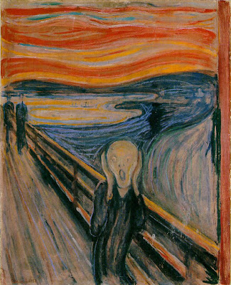 Edvard Munch, The Scream, 1893; Tempera and pastel on board; 91 x 73.5 cm, National Gallery, Oslo