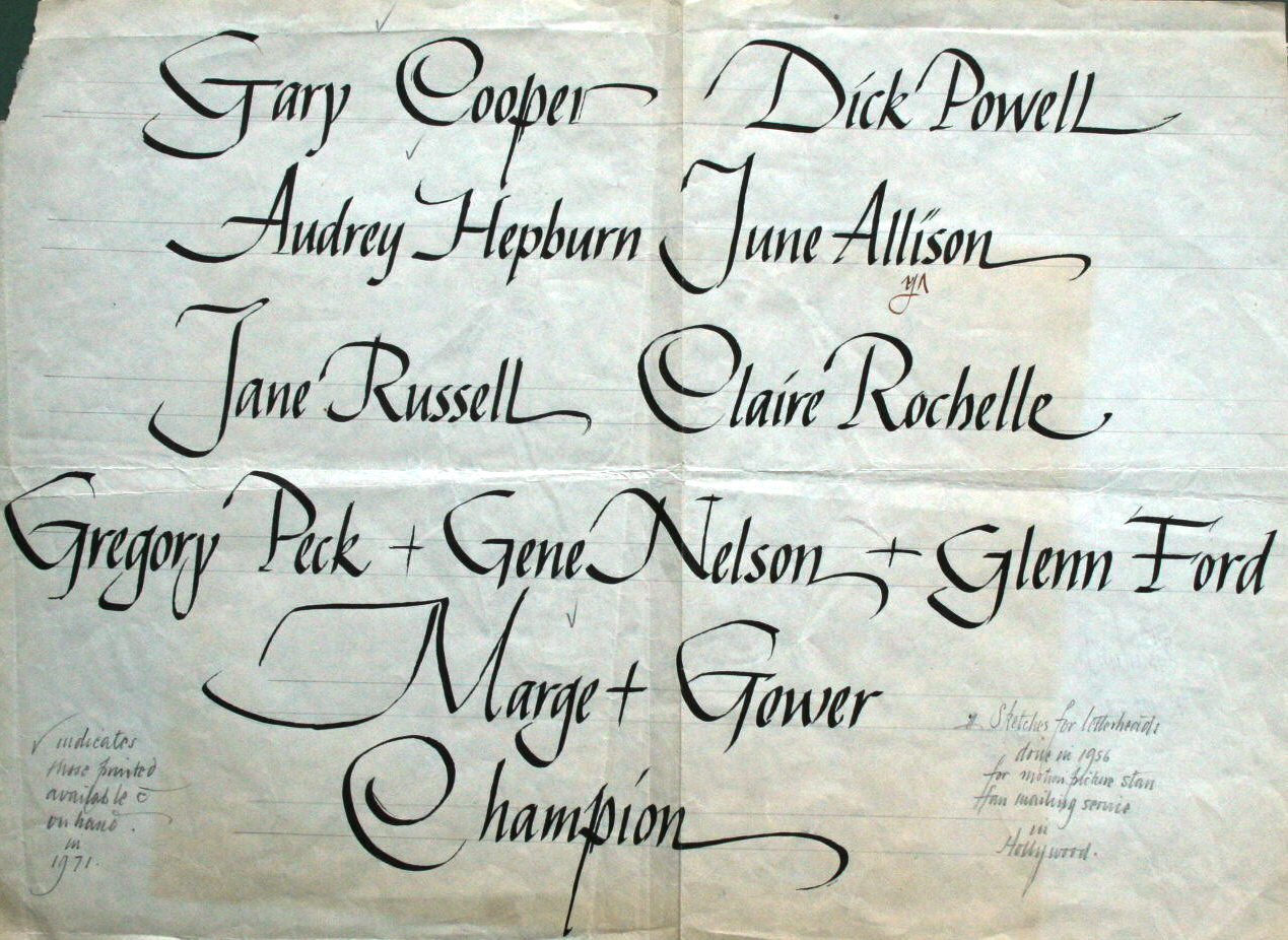calligraphy by mail