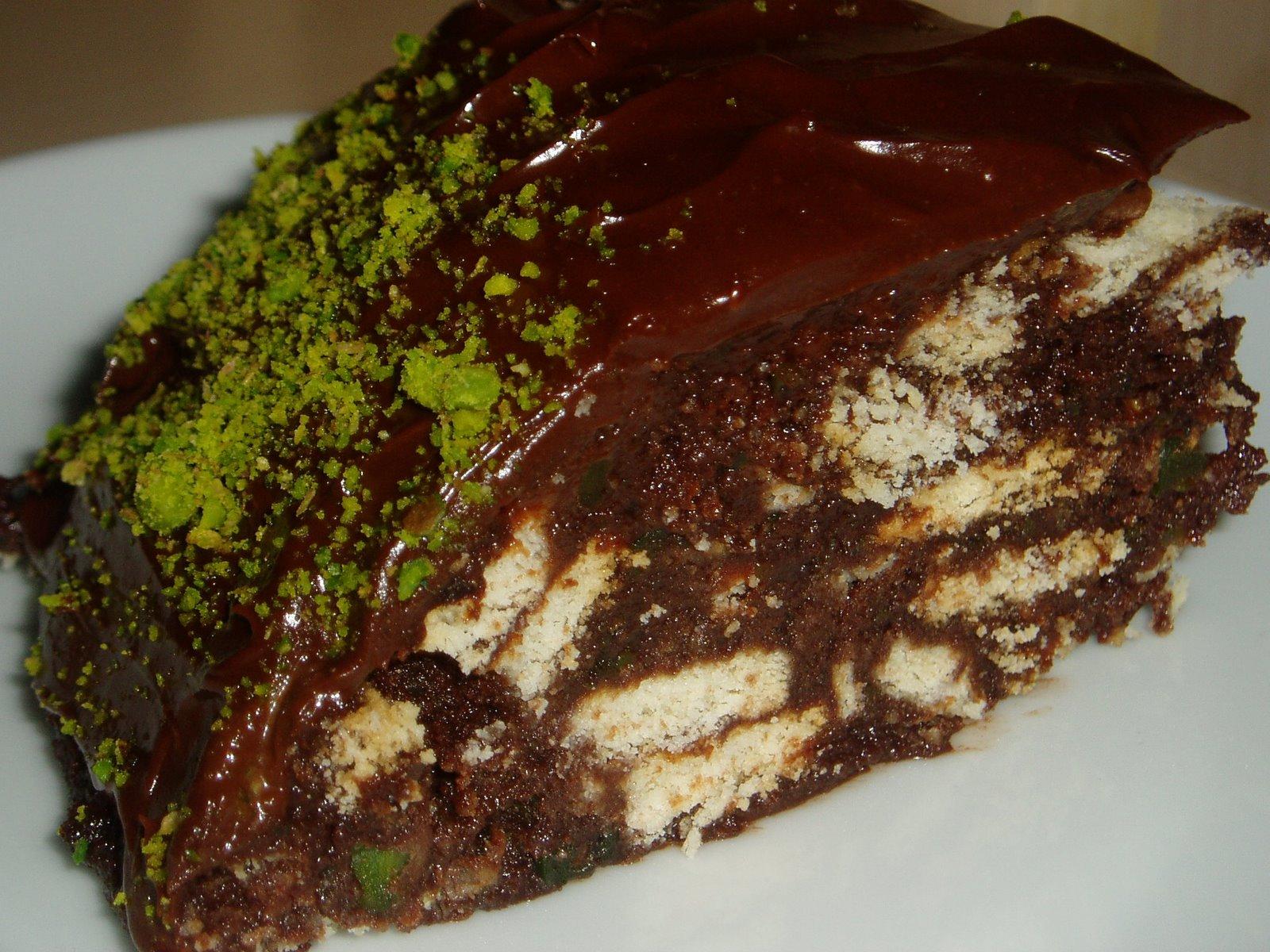 Antep Fıstıklı Mozaik Pasta Tarifi