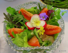 Garden Salad with Pansies