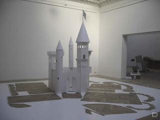 Бумажный замок для детей.