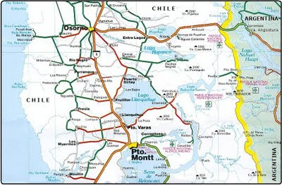 map lakes chile