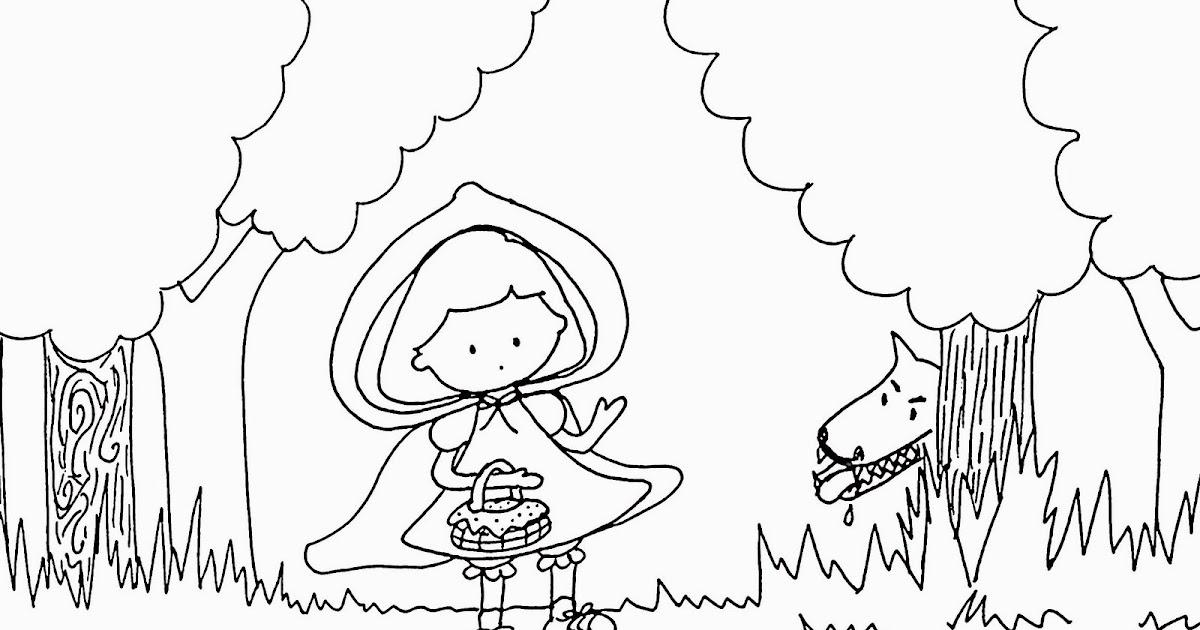 Paint A Drawing: Dibujo Para Colorear De Caperucita Roja Y