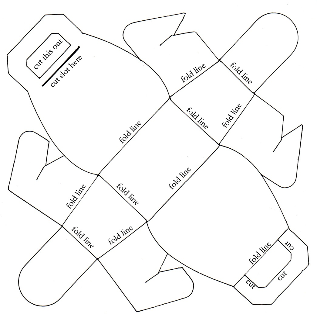 Make a Fun Paper Gift Bag with This Free Printable PDF ... - photo#42