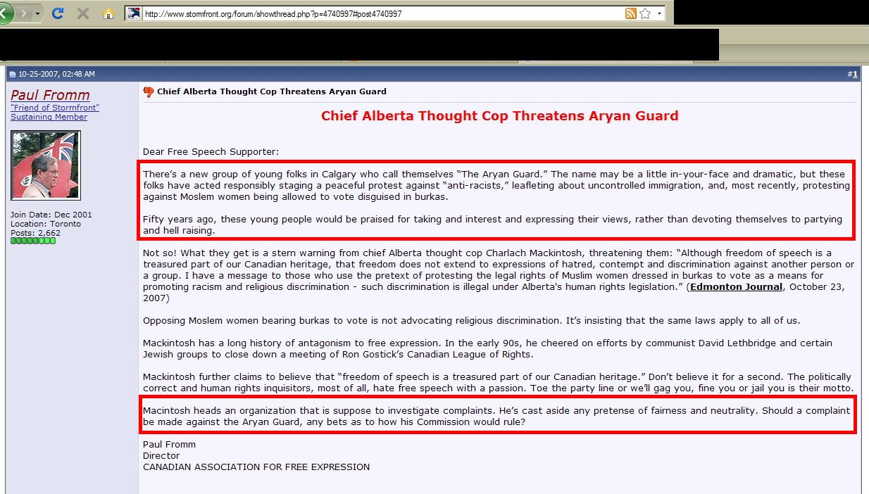 Anti-Racist Canada: The ARC Collective: Aryan Guard: Who Is Responsible?