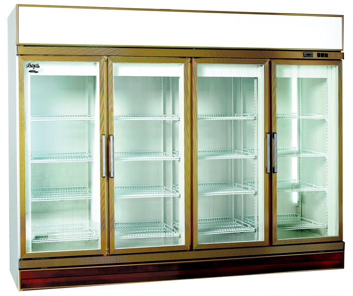 Cold Storage Equipment Upright Showcase Glass Chiller