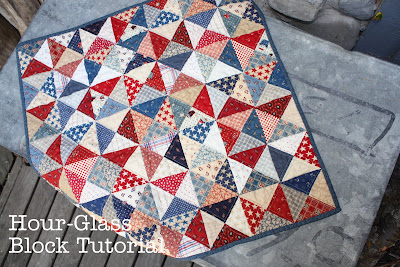 Hour Glass Block tutorial | Diary of a Quilter - a quilt blog