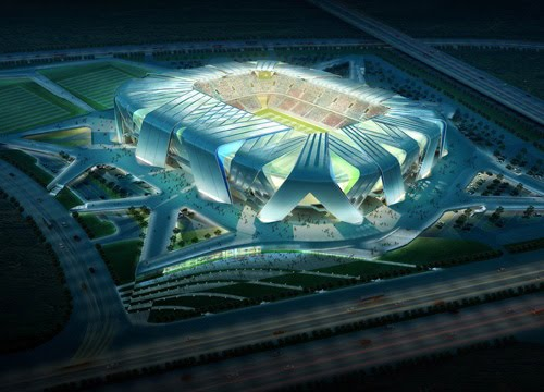 Dalian Stadium Architecture Design by UNStudio