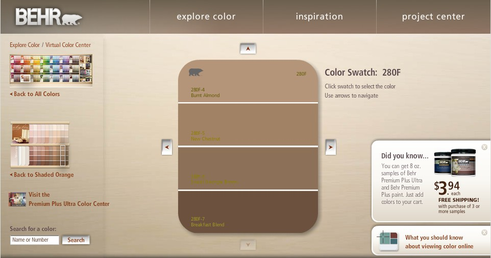 behr color charts gallery chart design for project