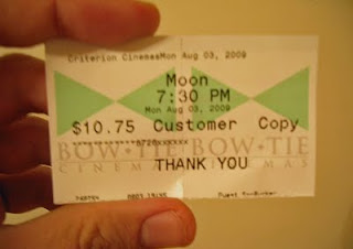 Movie ticket to Moon.