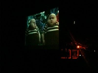 Tweedle-Dum and Tweedle-Dee, from Tim Burton's horrible reconfiguring of Alice in Wonderland