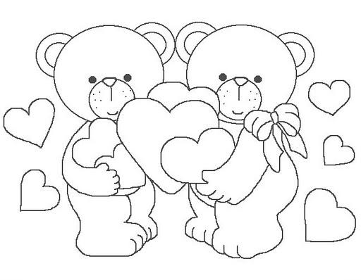 Dibujos Osos Amorosos Para Colorear E Imprimir: Dibujos Para Colorear: Dibujos Para Colorear