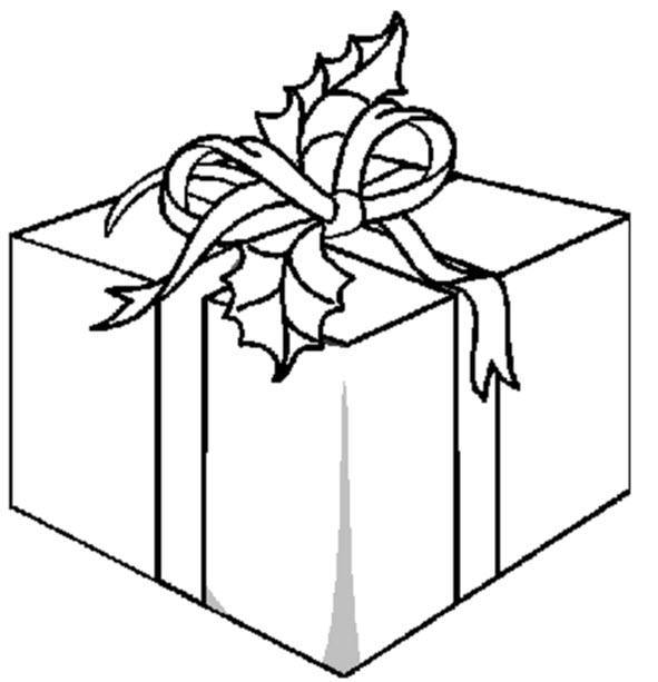 Dibujos para colorear: Regalo de Navidad para colorear