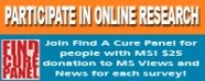 Online Research Study for MS