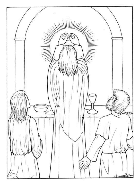 catholic mass coloring pages - photo#13