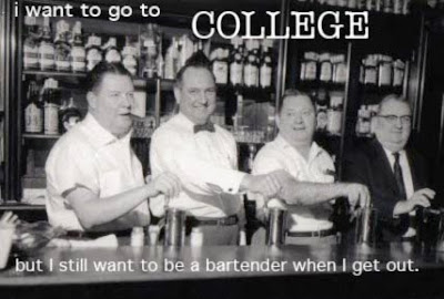 Image result for postsecret bartender college