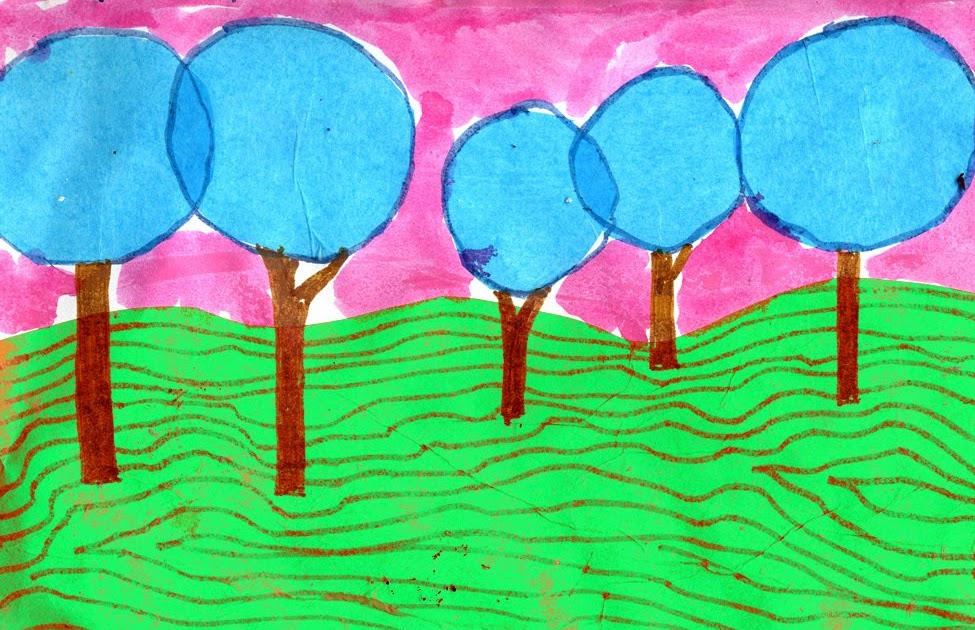 Hundertwasser Landscape   Art Projects for Kids