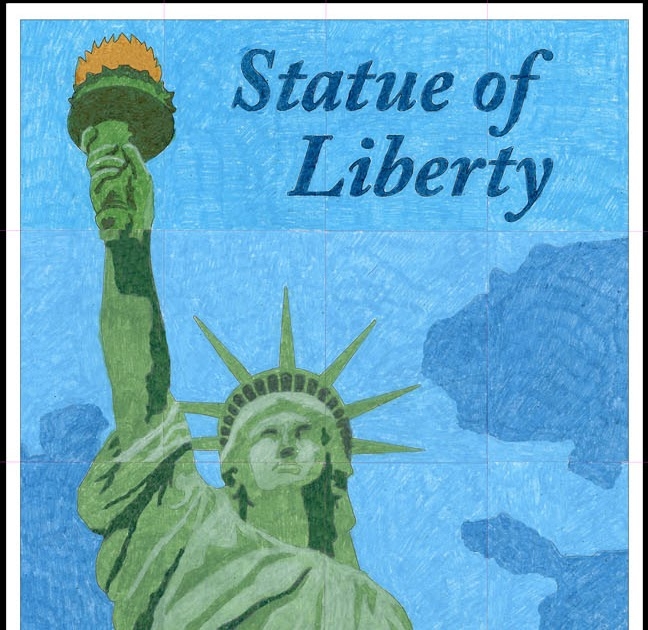 statue of liberty craft statue of liberty mural projectsart projects for kid 5492