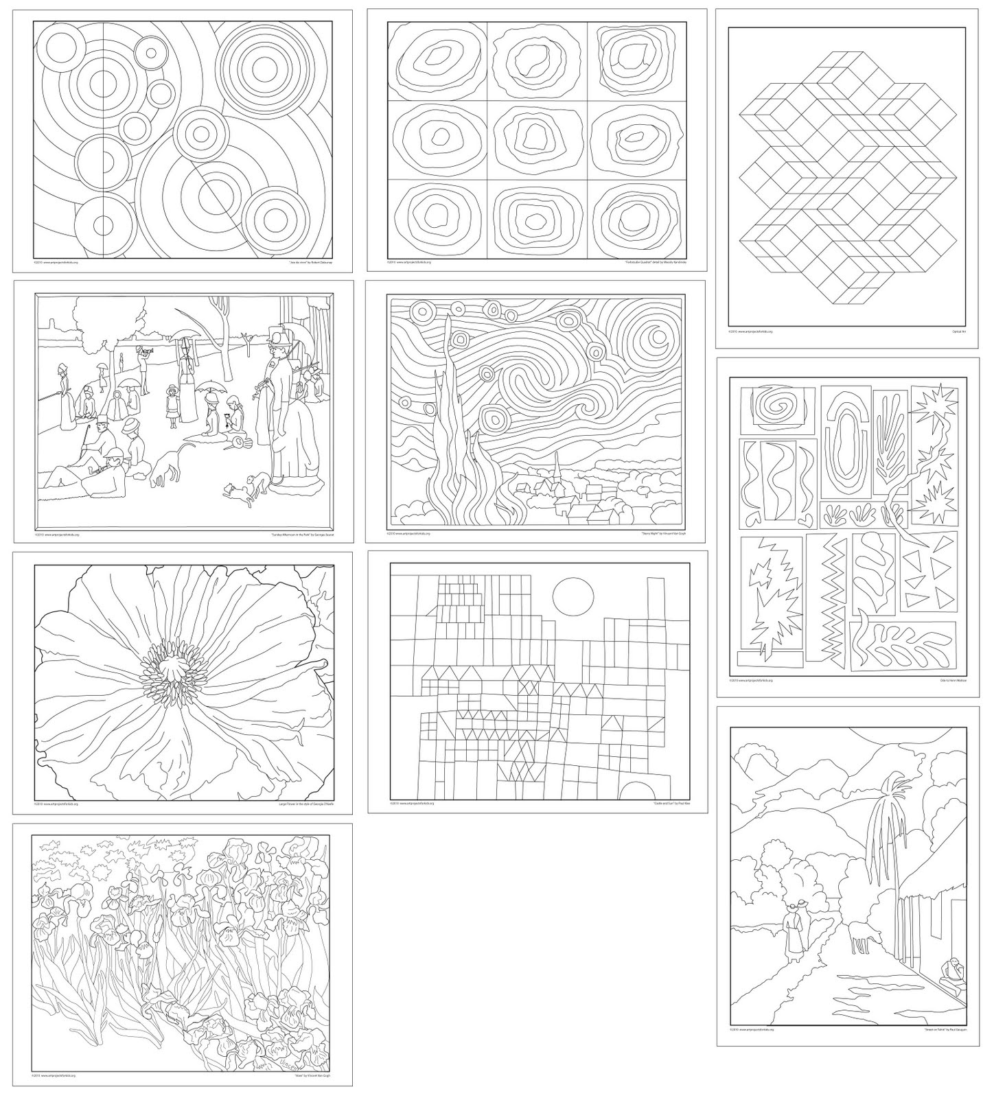 Free coloring pages of op art sheets for Op art coloring pages