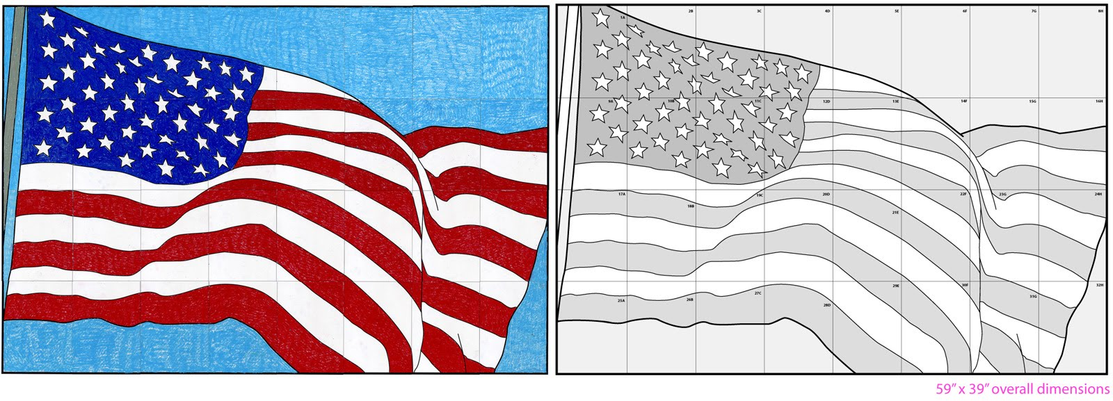 Us Flag Diagram Art Projects For Kids