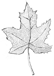 leaf line drawing fall leaves pattern projects