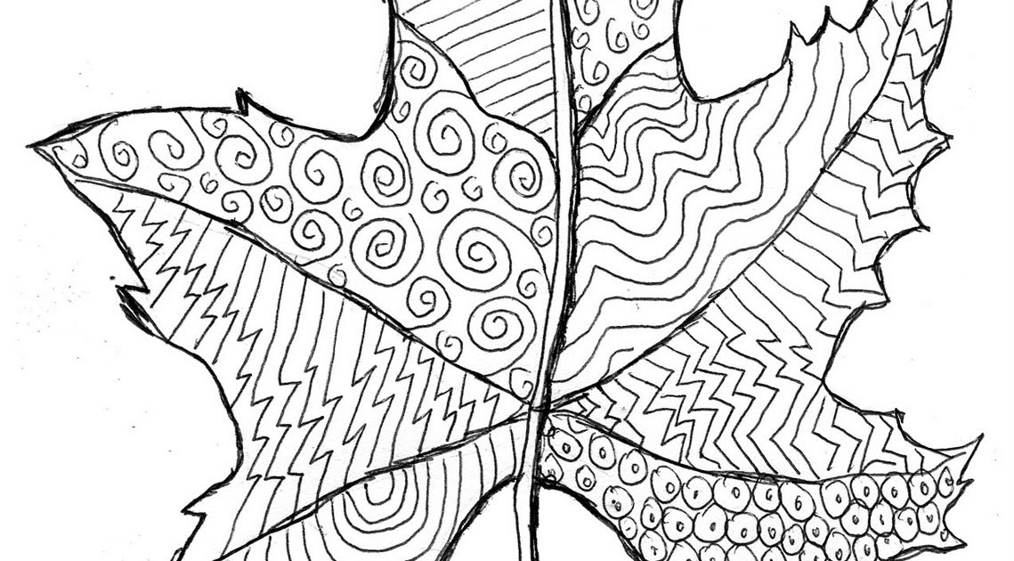 Grovecrest Art: Fall Leaf Line Drawing