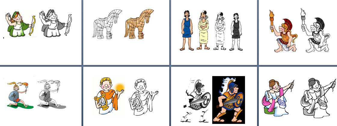 Imágenes de la cultura griega para colorear | Diario Educación