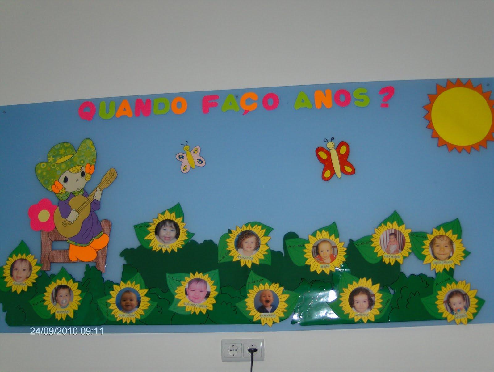 mapa de aniversários creche SALA FLORINHA   CRECHE