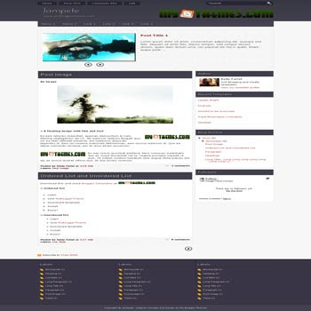 Jampete blogger template with 3 column footer blogger template. content slider blogger template