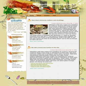 Diego MexiCan blogger template. template blog from wordpress. recipes template blog