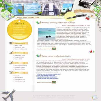 Paradise In Indonesia. template blog from wordpress. travel blog template