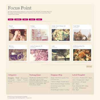 Focus Point blogger template. gallery and photography blogger template