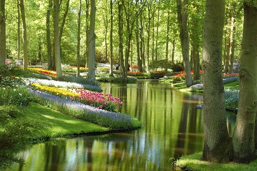 los jardines fueron realizados para satisfacer el lujo de las cortes europeas