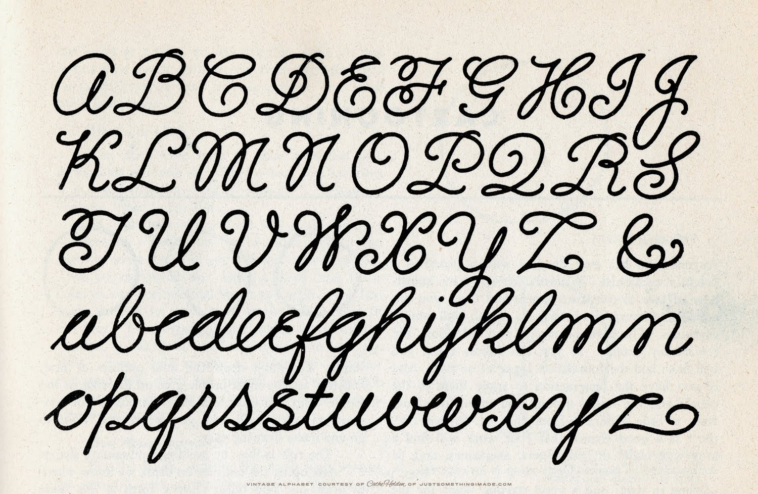 Old Fashioned Handwriting Alphabet 42