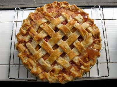 Peach and Cherry Pie with Lard Crust