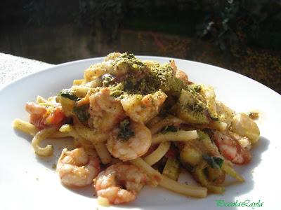 Scialatielli Gamberi e Zucchine con Pistacchio di Bronte