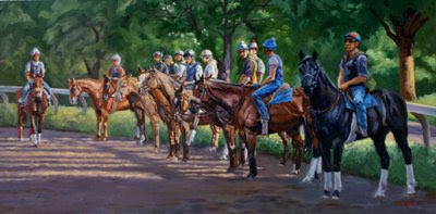 thoroughbred oil painting