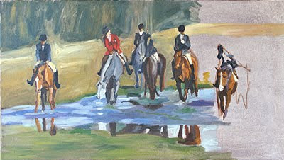 foxhunting painting