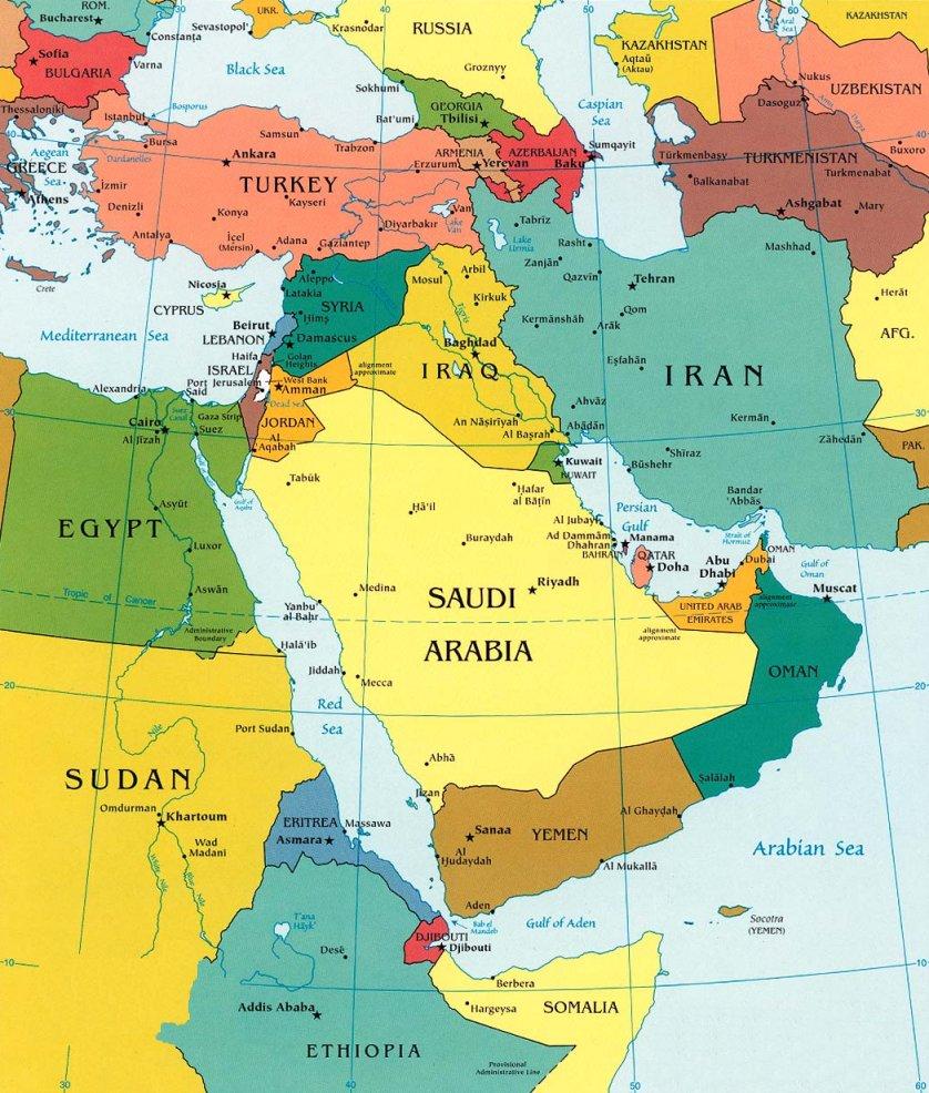 mapa de israel e paises vizinhos Geo   Conceição : ORIENTE MÉDIO mapa de israel e paises vizinhos