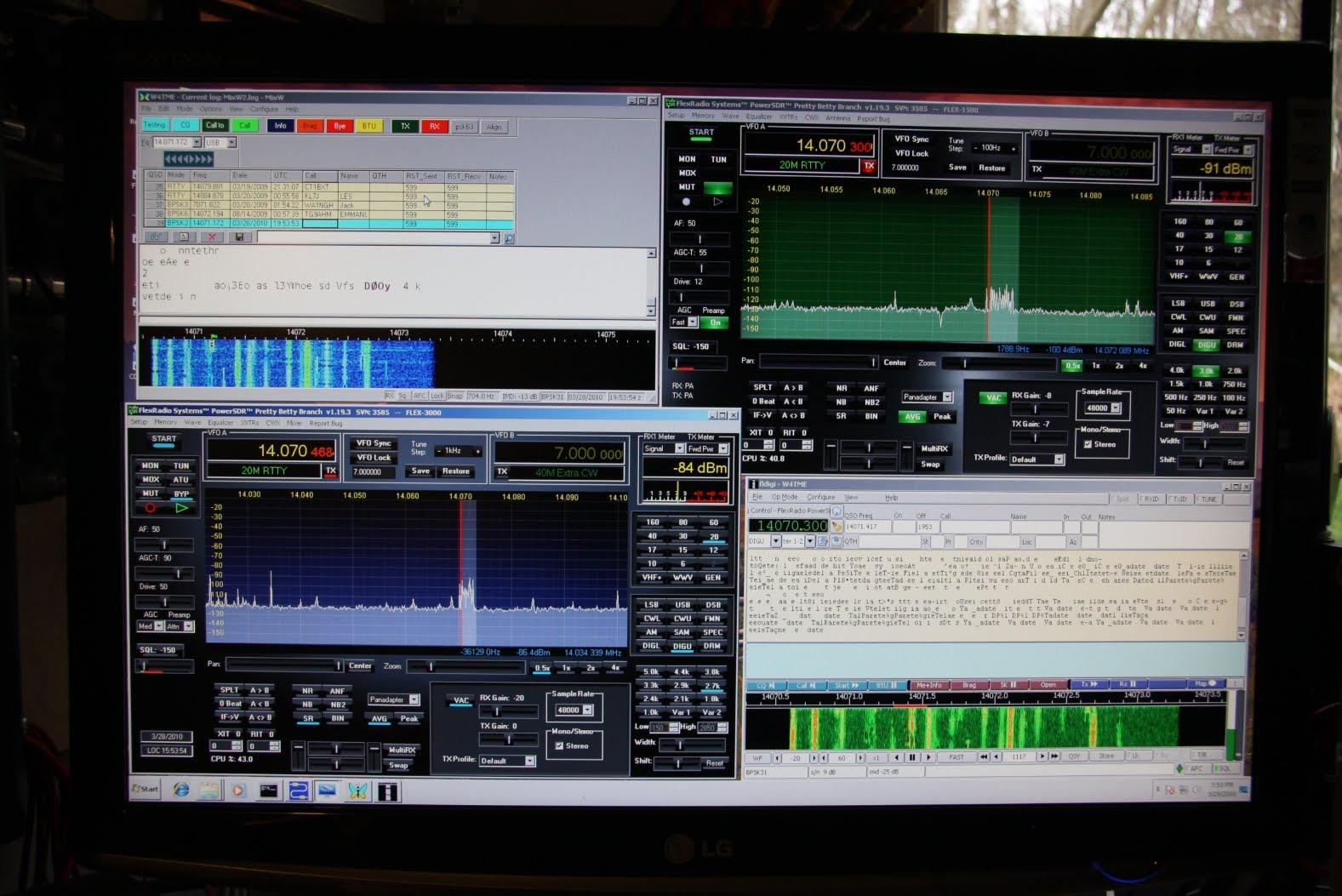 Flex-1500 QRP SDR Running PSK