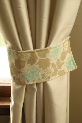 homemade ginger how to make curtain tie backs. Black Bedroom Furniture Sets. Home Design Ideas