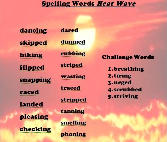 4th Grade Spelling Words