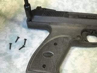 Another Airgun Blog: Gamo PT-800 Pistol Disassembly (Daisy 1140)