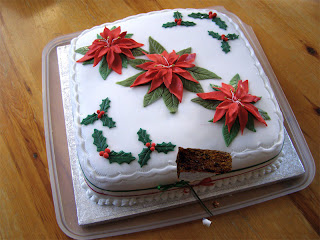 My Christmas Cake with a slice cut out